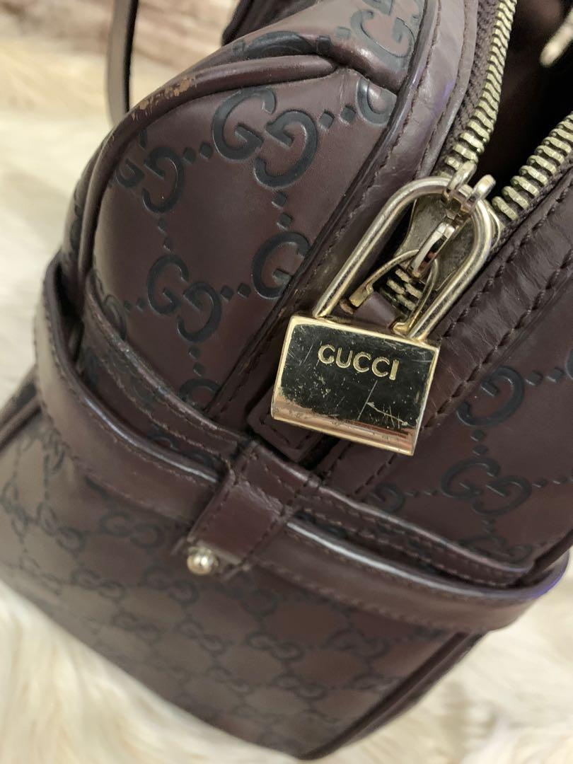 Tas Gucci shoulder authentic full leather, size 36 cm, limited anniv edition, mewah bag only,90% good condition
