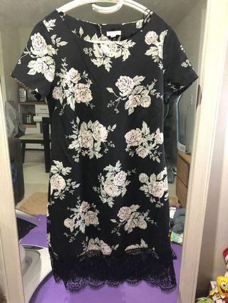 Floral with Lace hem dress