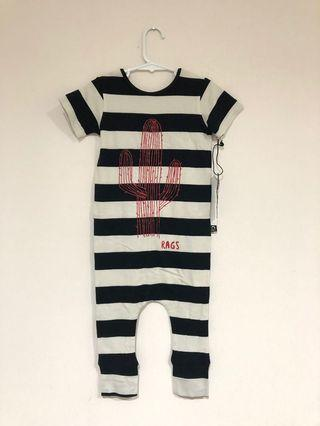 Stripes Rags to Raches Romper (2T)