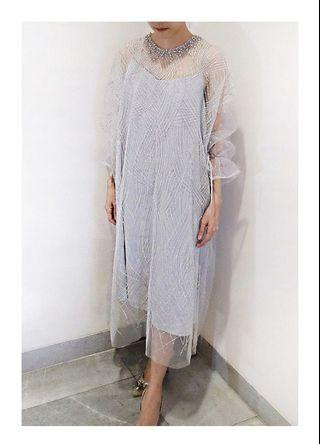 Sewa: Glize Dress in silverish light blue
