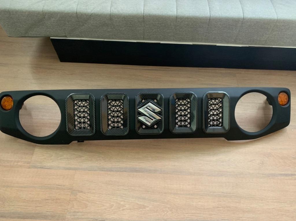 二手很新 JIMNY JB74 原廠水箱罩+卡夢飾板