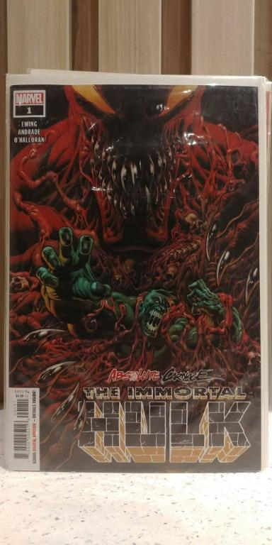 Absolute Carnage Immortal Hulk (2019 Marvel) # 1A Hulk bonds with the Venom symbiote