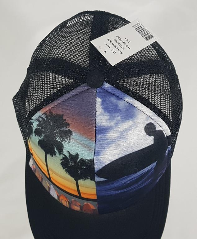 BASEBALL HAT with PALM TREES & SURFERS ADJUSTABLE NWT