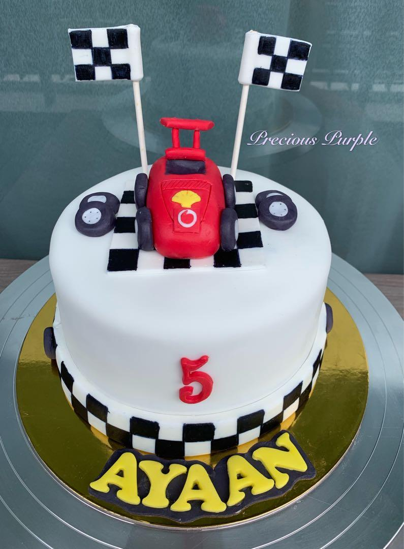 Birthday Cake Boy Cake Racing Car Cake Food Drinks Baked Goods On Carousell