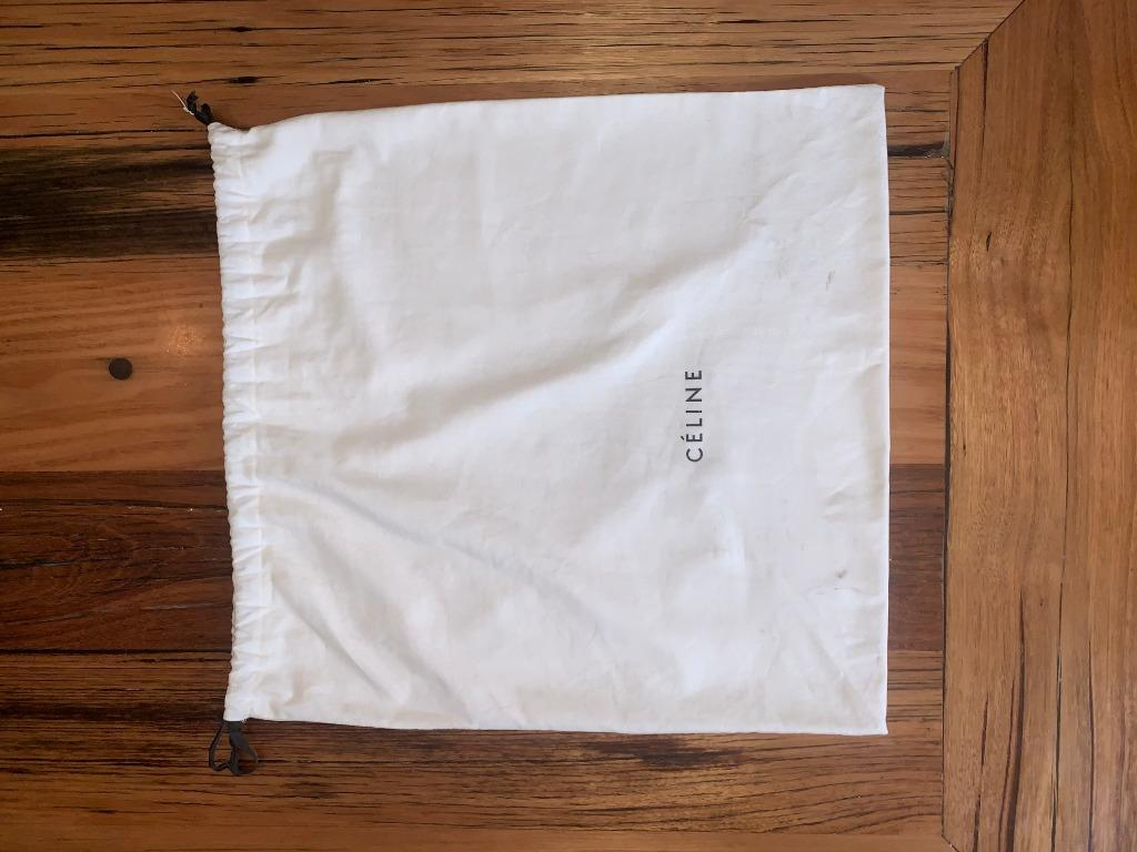 Celine Cabas Phantom Luggage Cutout Medium Tote Black Leather Shoulder Bag