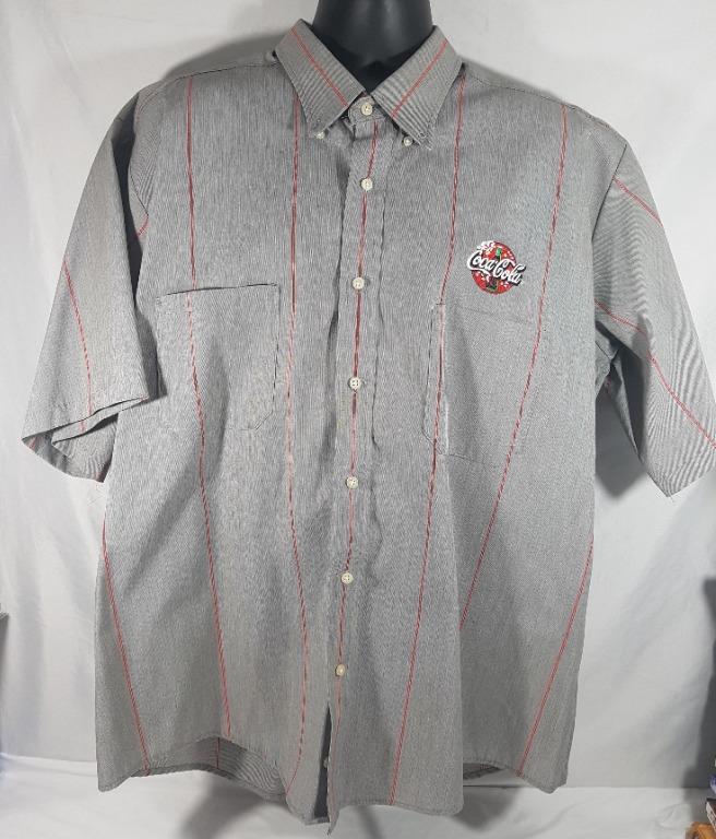 Coca Cola Driver Vendor Uniform Shirt Cintas Short Sleeve Men's 2XL-SS (Reg.) Button Down