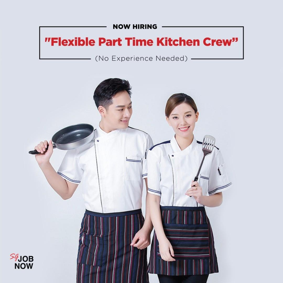 FLEXIBLE PT KITCHEN CREW (no experience needed)
