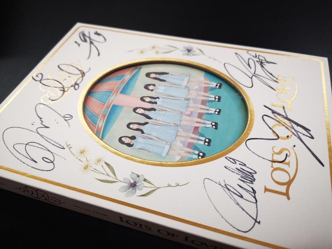 GFRIEND The 1st Album Lots Of Love Signed album by ALL members
