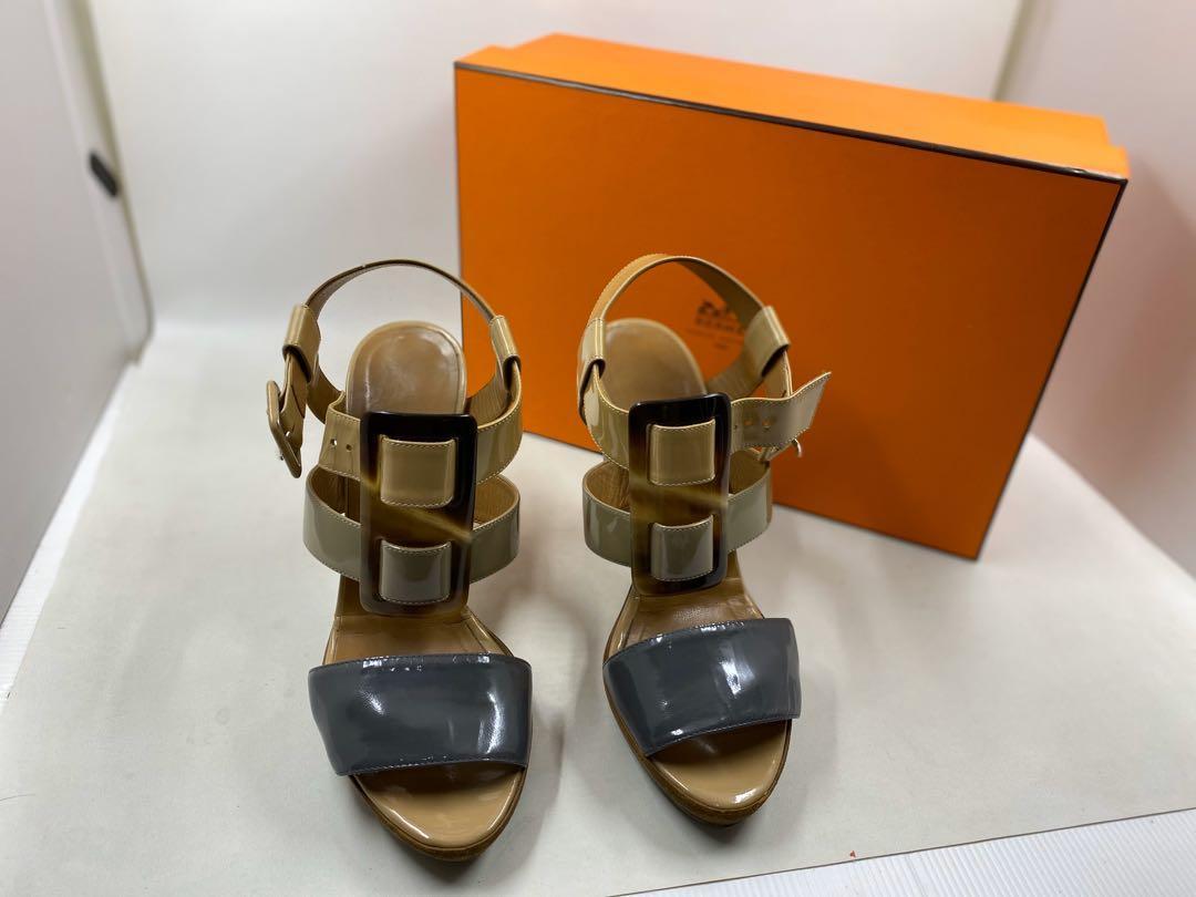 Hermes Shoes Heels Authentic with very good condition! lengkap dengan receipt #makinhoki