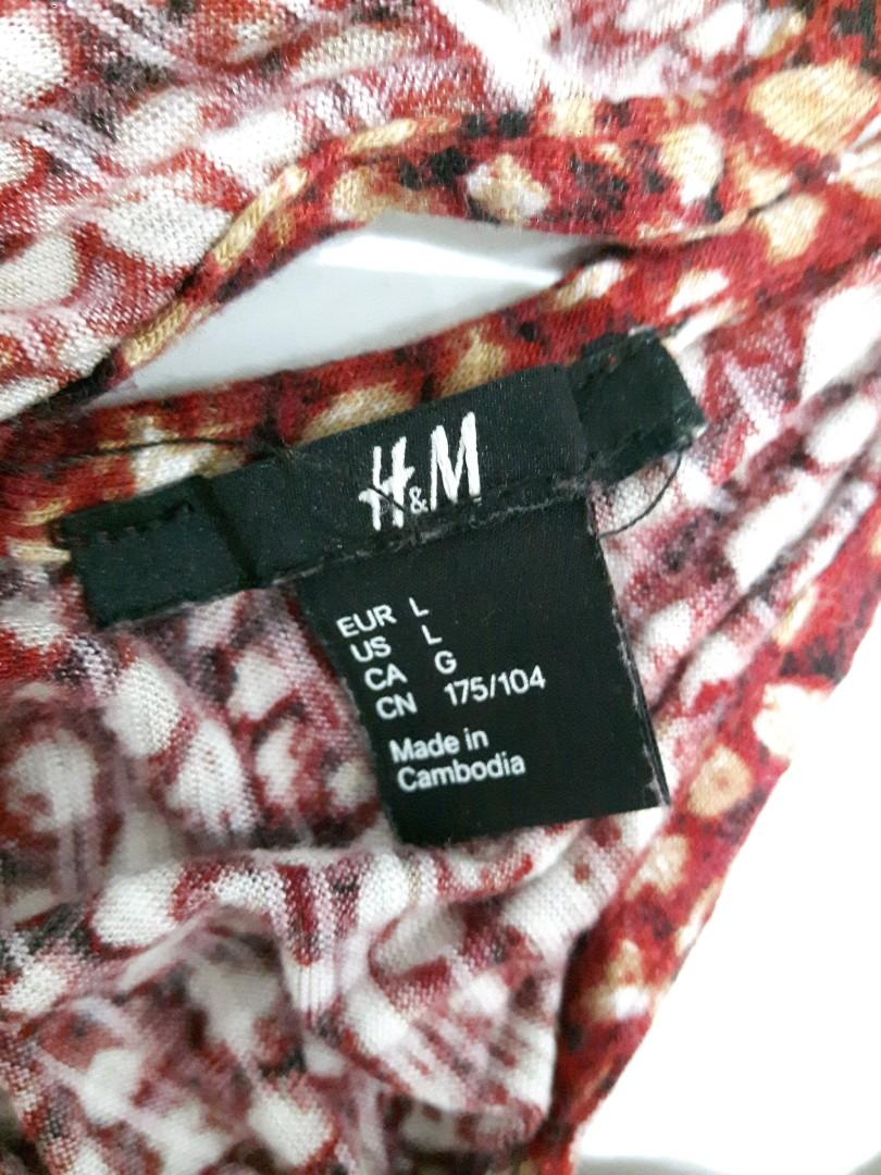 H&M BEACH STYLE RACERBACK DRESS SIZE LARGE SUPER SOFT