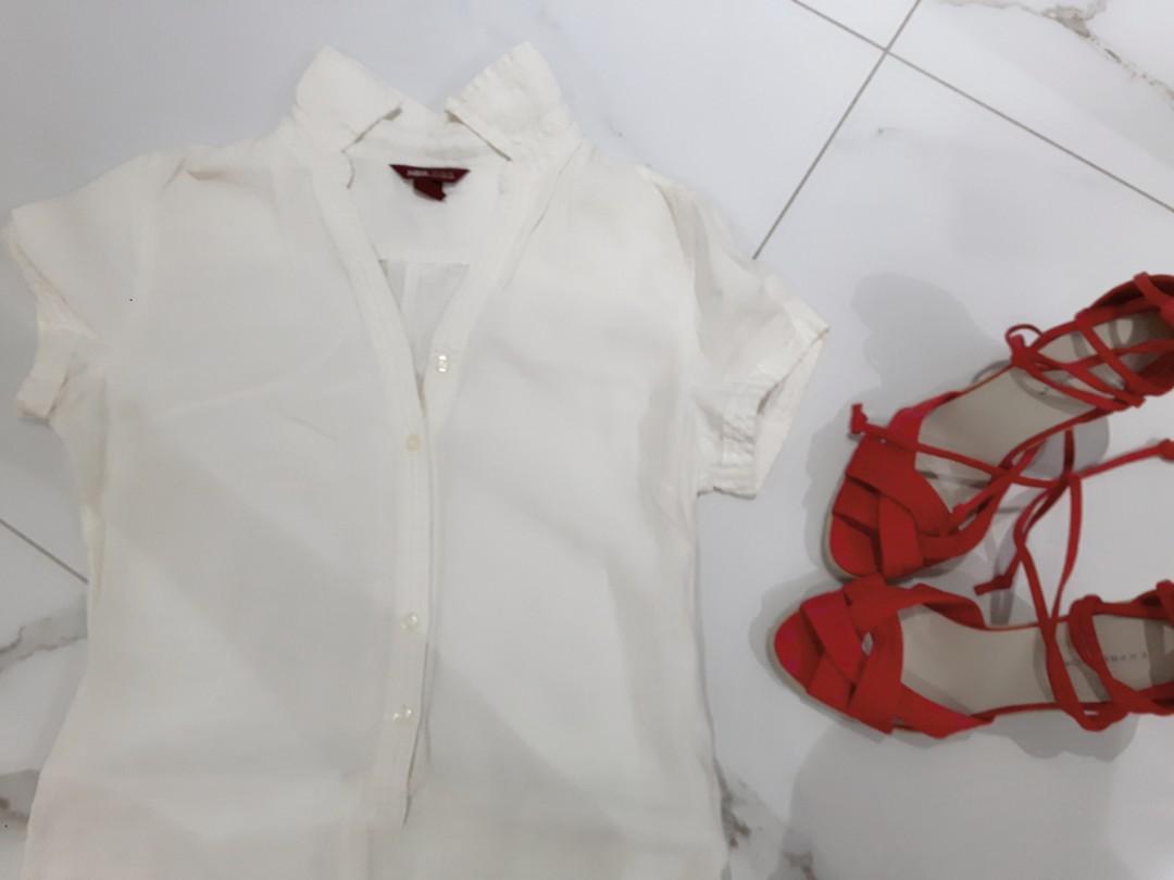 H&M L.O.G.G. 100% LINEN DRESS SIZE 4 SHORT SLEEVE KID LENGTH