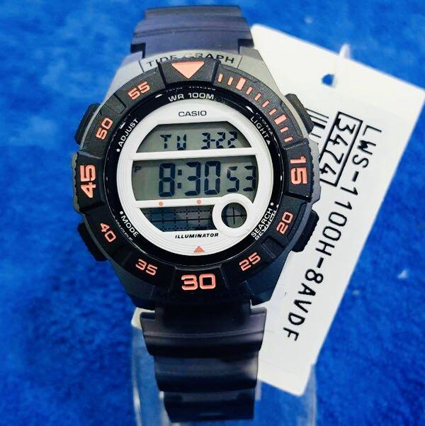 NEW🌟TOUGH CASIO UNISEX SPORTS WATCH : 100% ORIGINAL AUTHENTIC : By BABY-G-SHOCK ( GSHOCK ) COMPANY :  LWS-1100H-8AVDF (BLACK-OCEAN)