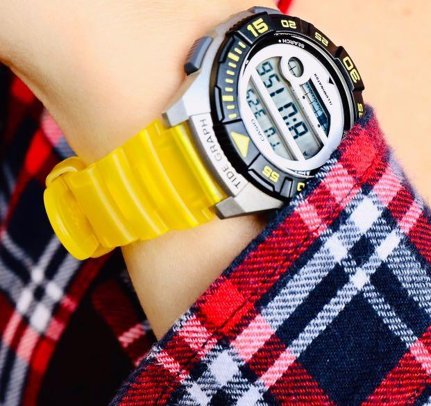 NEW🌟TOUGH CASIO UNISEX SPORTS WATCH : 100% ORIGINAL AUTHENTIC : By BABY-G-SHOCK ( GSHOCK ) COMPANY :  LWS-1100H-9AVDF (OCEAN-YELLOW)