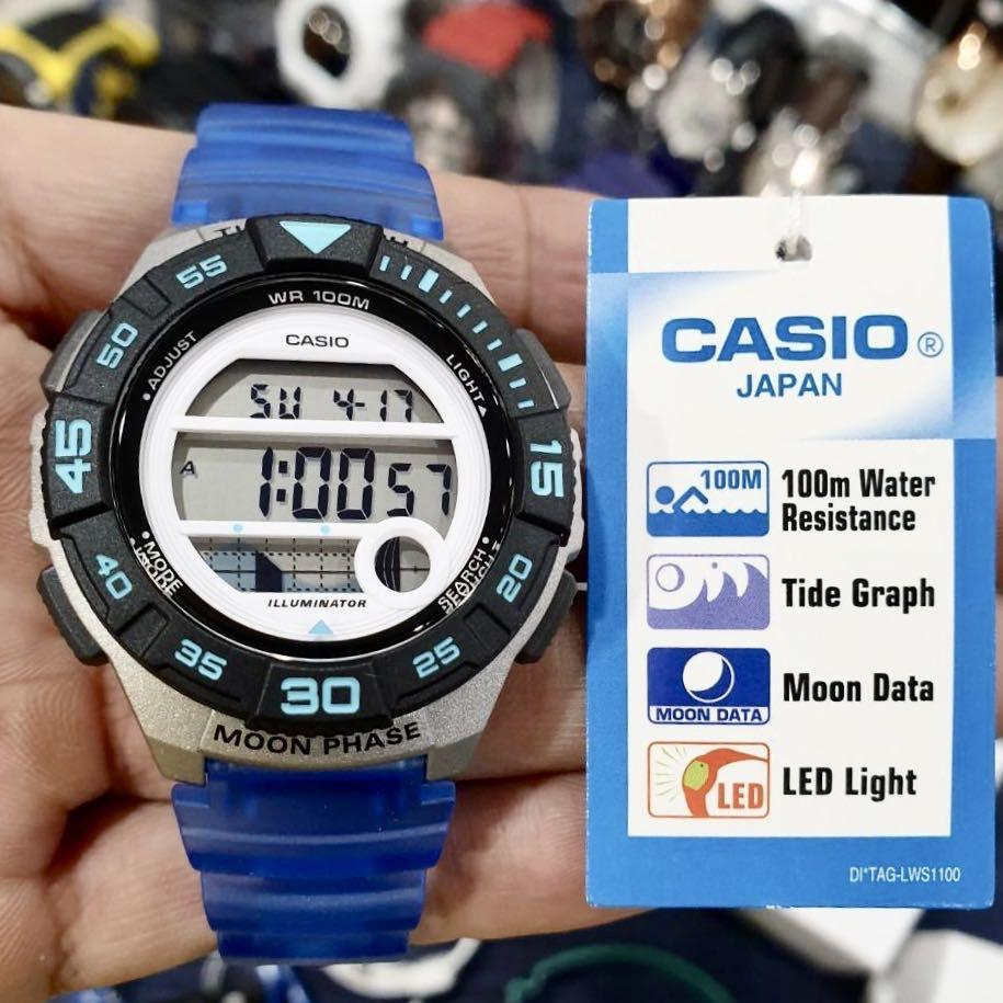 NEW🌟TOUGH CASIO UNISEX SPORTS WATCH : 100% ORIGINAL AUTHENTIC : By BABY-G-SHOCK ( GSHOCK ) COMPANY :  LWS-1100H-2AVDF (OCEAN-BLUE)