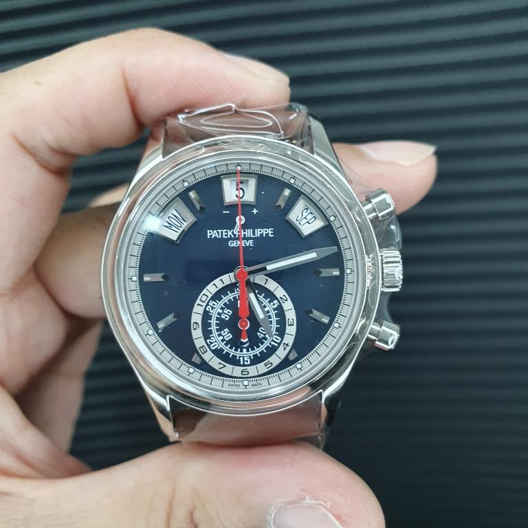 Patek Philippe Chronograph, Annual Calendar, Day/Night indicator, Power Reserve, White Gold, Ref 5960/01G
