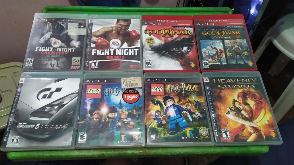 Ps3 Game Set Sale Fight Night Harry Potter Heavenly Sword Gran