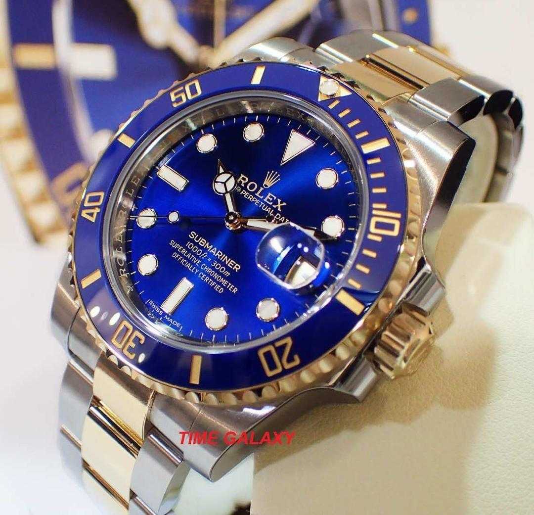 ROLEX Submariner 116613LB Steel and Yellow Gold 40mm Blue Dial Blue Bezel Automatic watch