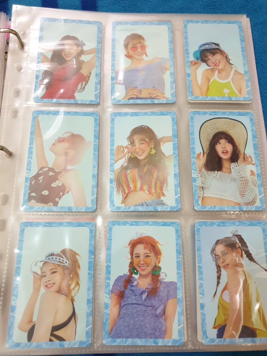 TWICE SUMMER NIGHTS DANCE THE NIGHT AWAY PHOTOCARD SET TYPE A