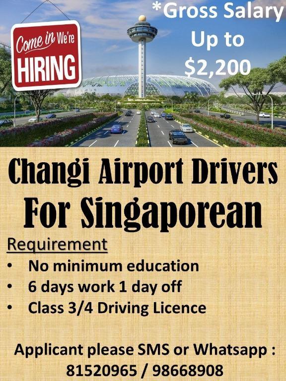 Urgently hiring 20 bikers at Changi Airport!