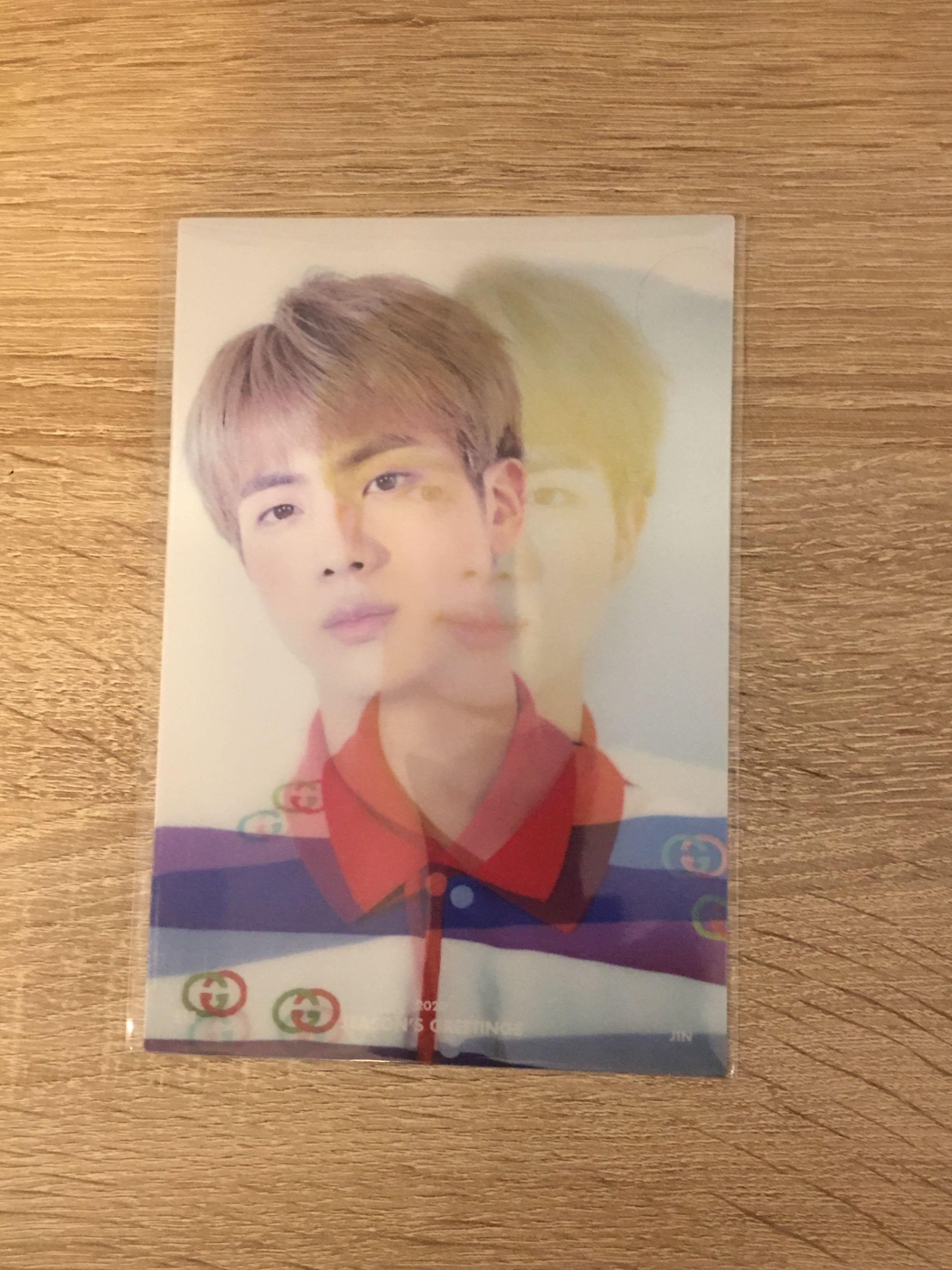 [WTS] JIN LENTICULAR CARD (BTS SEASON'S GREETINGS 2020)