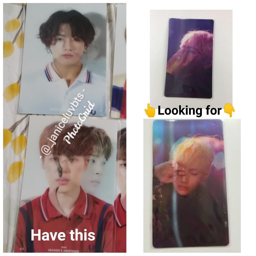 [WTT] BTS WINGS CONCEPT PHOTO LENTICULAR AND BTS SEASON GREETING 2020 PHOTO LENTICULAR