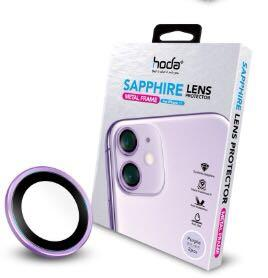 hoda【iPhone 11】藍寶石金屬框鏡頭保護貼 - 原色款