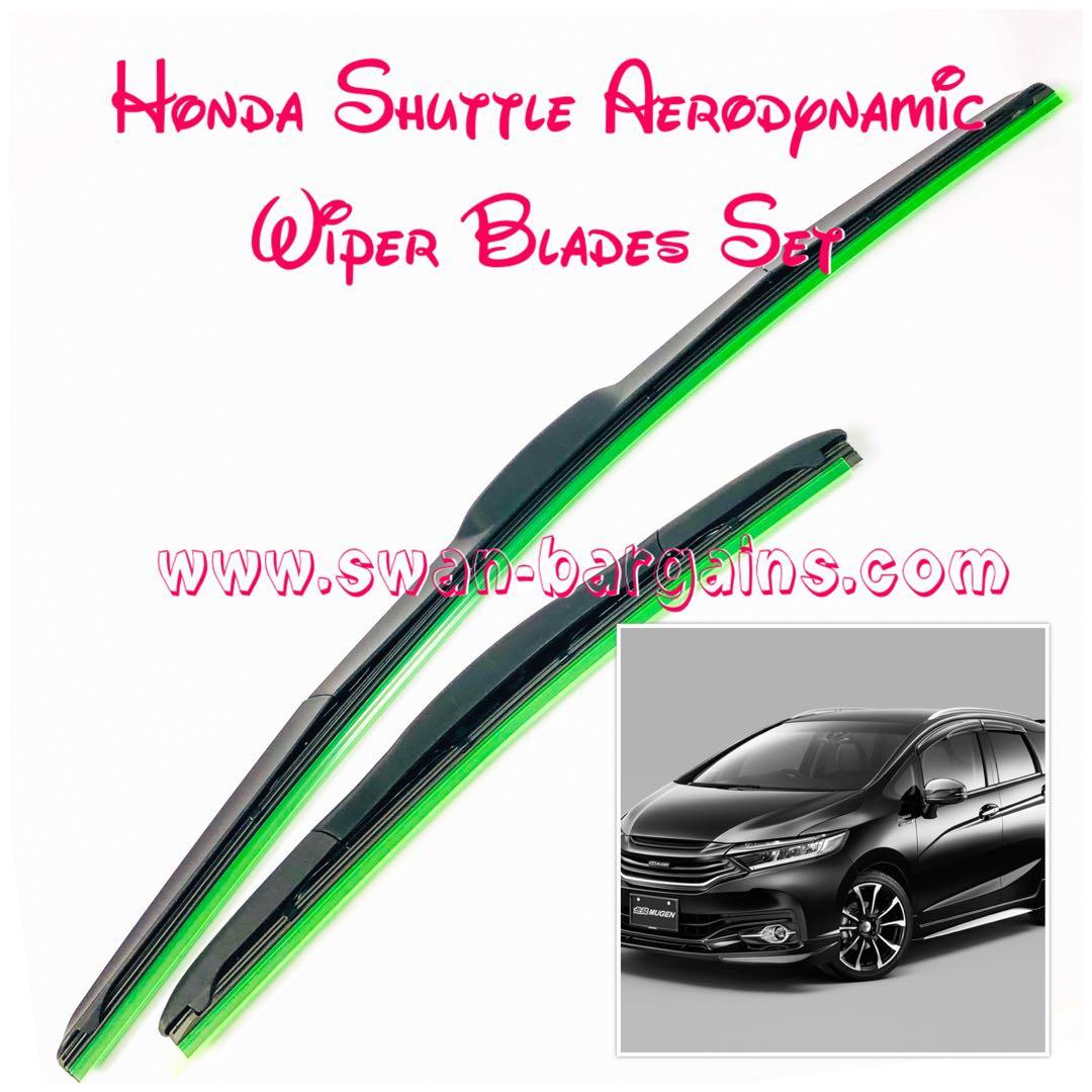 2pcs Honda Shuttle Aerodynamic Soft Rubber Silicon Beads Coated Wiper Blades Set Clear Vision Smooth Wiping Operations No Squeaking Streaking Or Juddering Effects Car Accessories Accessories On Carousell