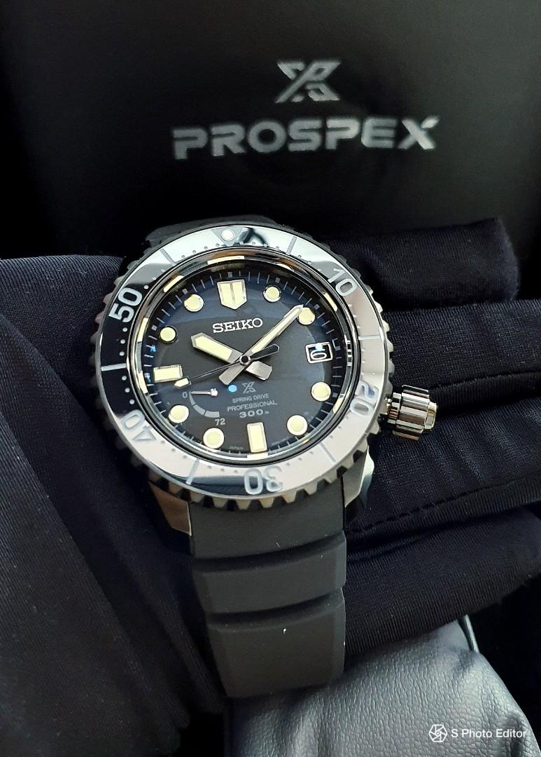 * FREE DELIVERY * Brand New 100% Authentic Seiko Prospex LX Stealth Divers Spring Drive Men's Automatic Professional Divers Watch SBDB021 SNR031