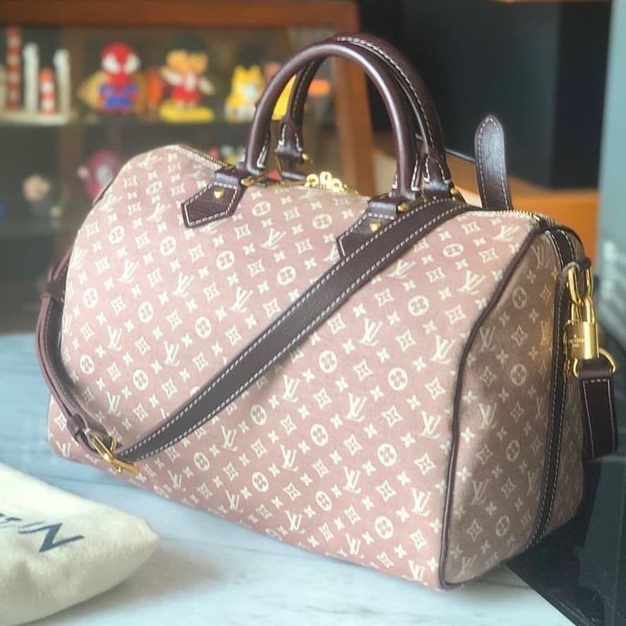 Authentic 💯 Louis Vuitton Speedy 30 Bandouliere Minilin Pink Bag with Strap
