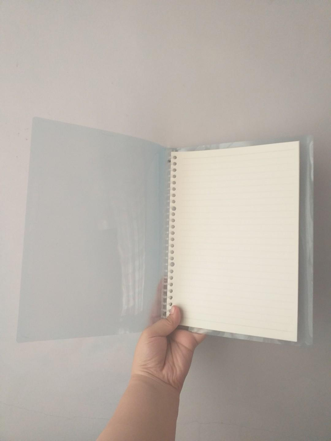 B5 Soft Binder Notebook Refillable 26 holes WITH Lined Refill Pages / Loose Leaf