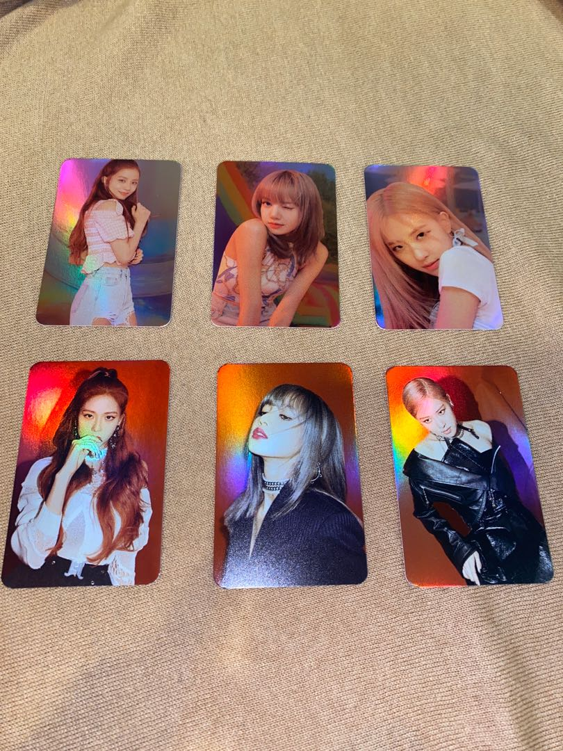 BLACKPINK official christmas photocards + greeting card merch (jisoo rose lisa)