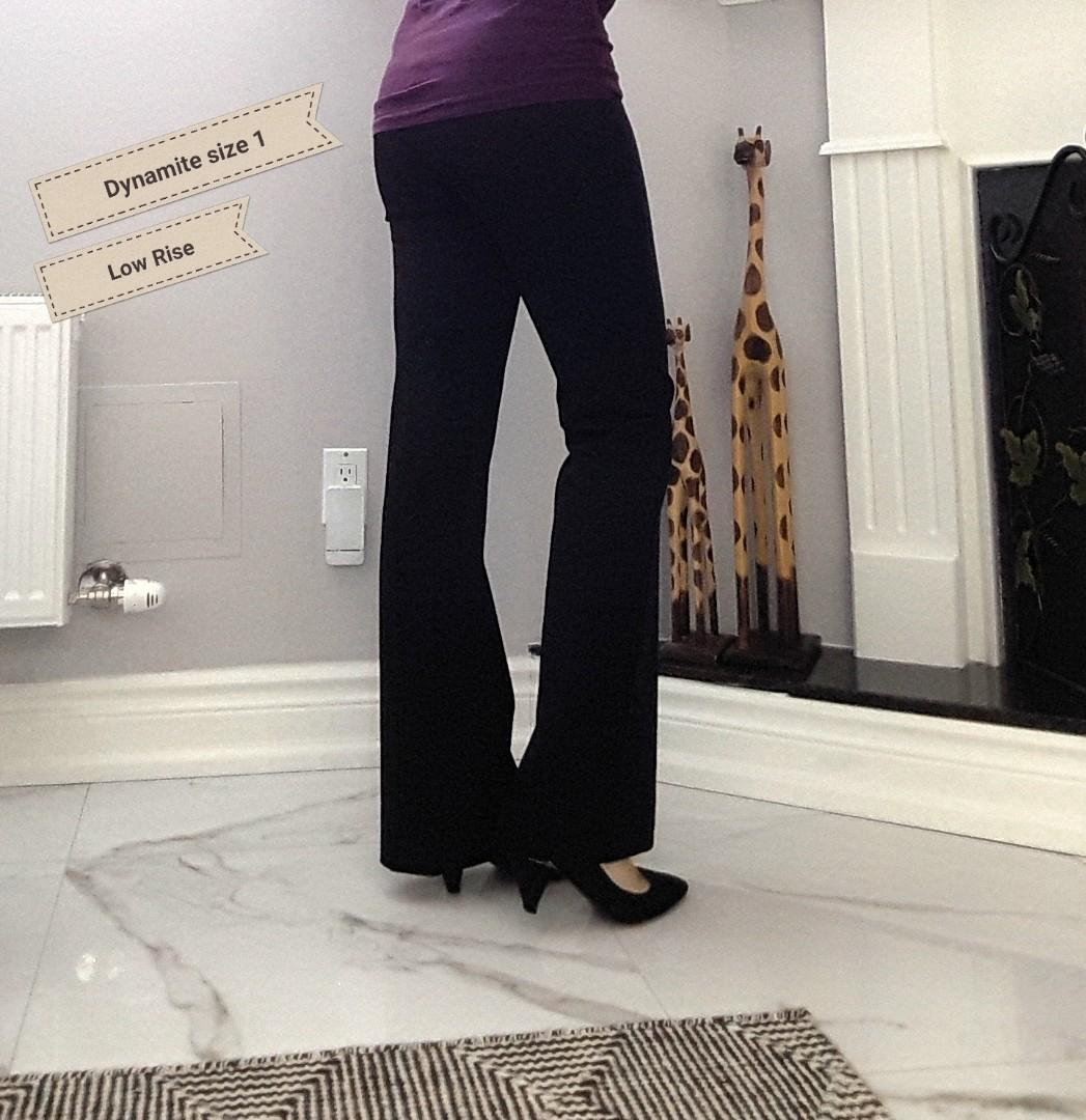 DYNAMITE-WOMENS CLASSIC DRESS PANTS SIZE 1 LOW RISE DARK GREY