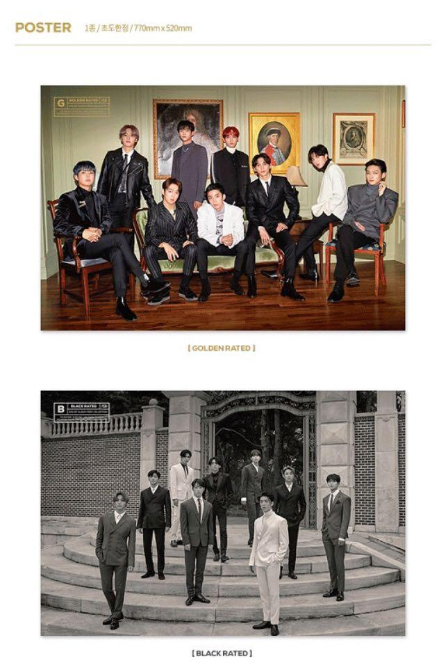 (free shipping) SF9 First Collection Poster In Tube ( Gold and Black rated)