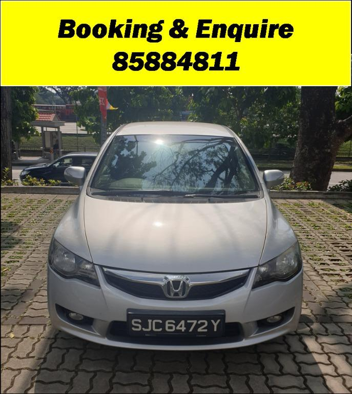 Honda Civic JUST IN!!! Lowest rental rates, fuel efficient & spacious. Hurry whatsapp Edwin @87493898 now to reserve!!!