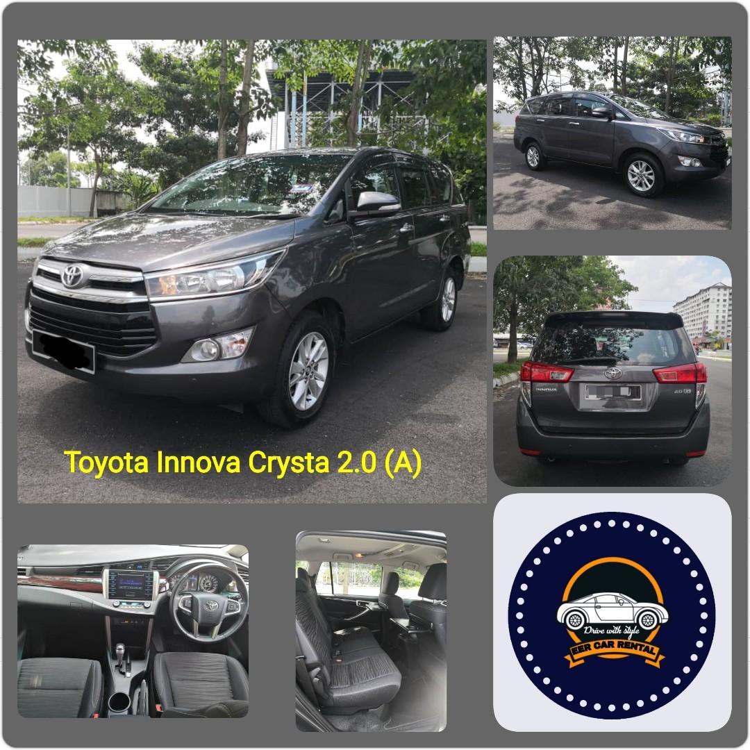 Innova crysta 2.0 (A) 8 Seat Kereta Sewa MPV Murah