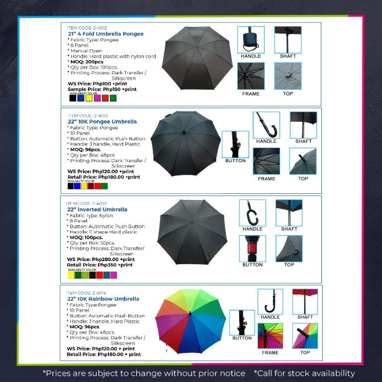 Personalized foldable nylon golf beach umbrella company event souvenir giveaway