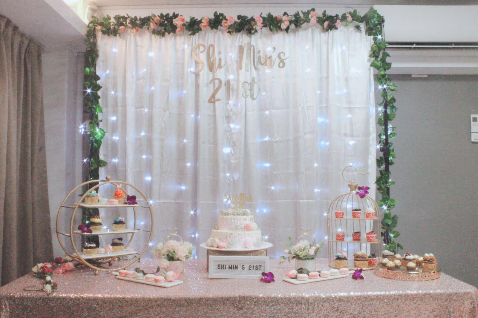 Rental White Curtains With Fairy Lights Design Craft Others On Carousell