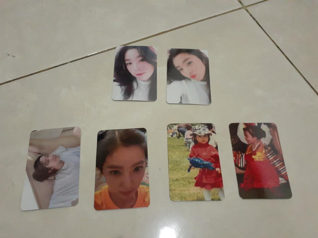REPLIKA IRENE PHOTO CARD SET BITHDAY PARTY AND 3RD ANNIV RV KUALITAS NO BLUR