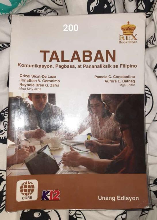 Talaban [Komunikasyon, Pagbasa, at Pananaliksik sa Filipino]  •