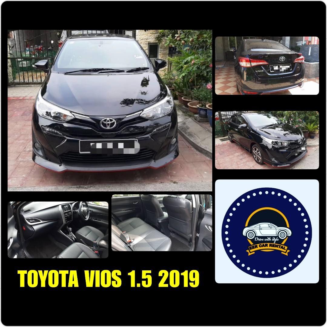 Tiptop Toyota Vios 1.5(E) 2019 Kereta Sewa Murah Selangor KL