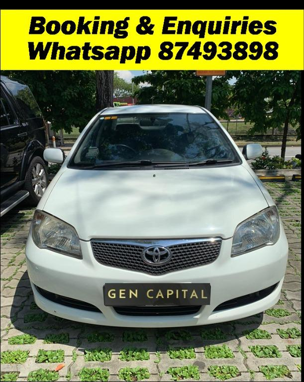 Toyota Vios 1.5A Cheapest rental in town! $500 Deposit driveoff immediately! whatsapp 85884811 now to reserve!!