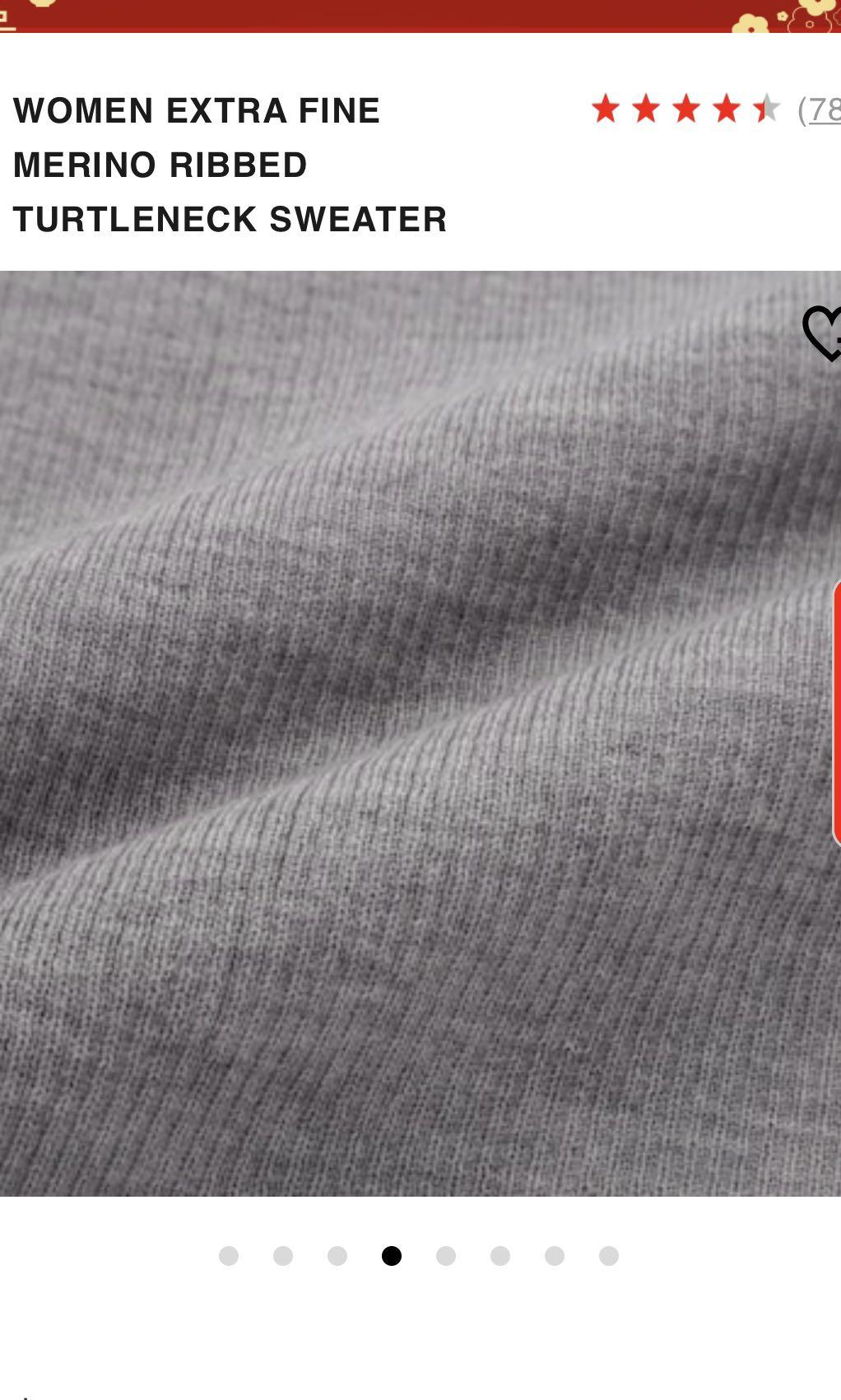 Uniqlo Extra Fine Merino Wool Turtleneck (Size XS)