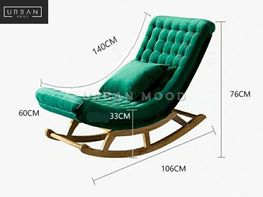 Verse Modern Velvet Rocking Chair Furniture Tables Chairs On Carousell