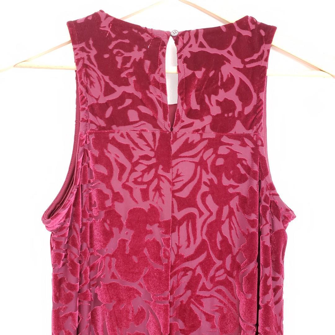 Vèronique Cloutier A-Line Burgundy Velvet Dress Small.