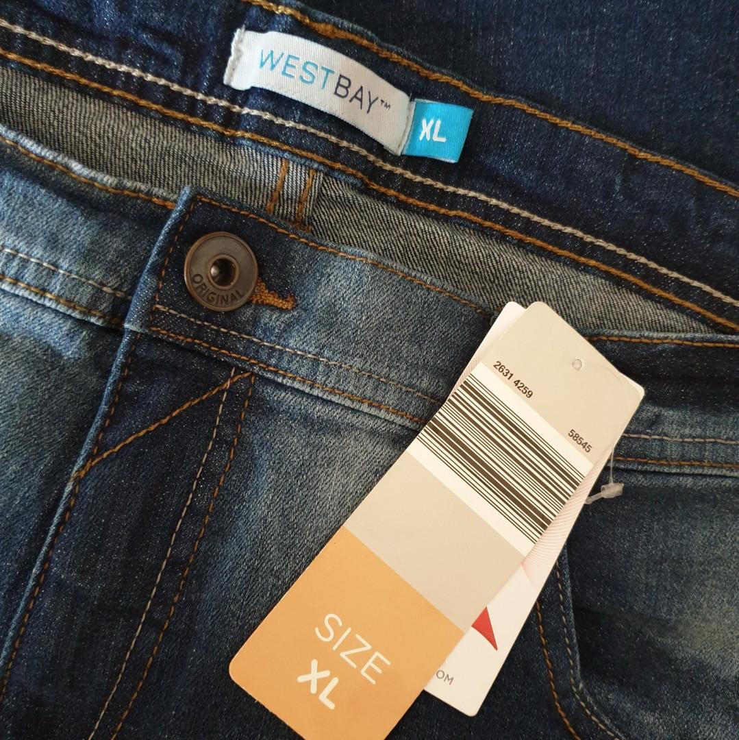 Women's size XL 'WEST BAY' Gorgeous blue denim shorts - BNWT
