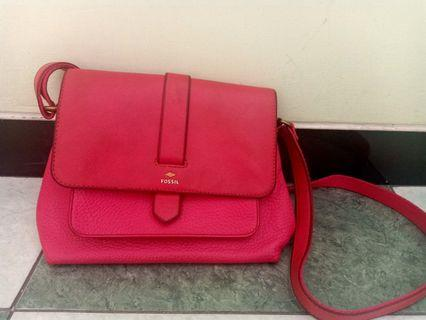 Preloved Authentic Fossil Kinley Crossbody Pink Bag (Size: Small)