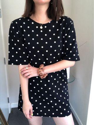 Dotted mini dress