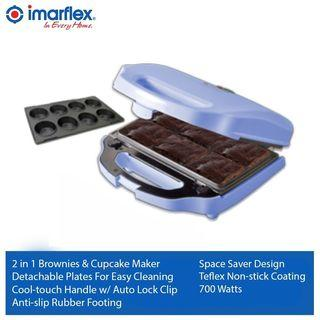 Imarflex 2 in 1 Brownie And Cupcake Maker
