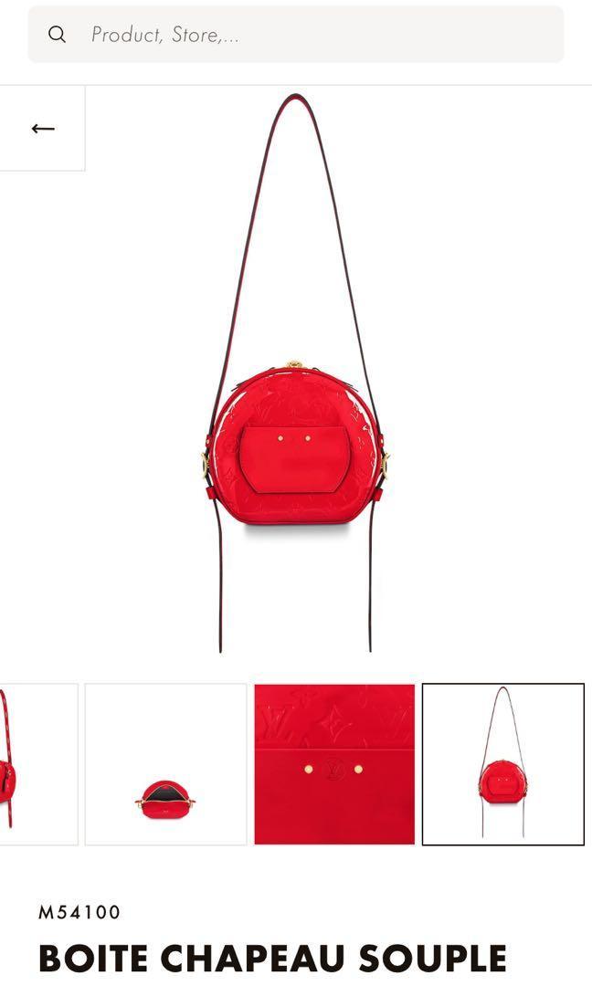 Authentic Louis Vuitton Boite Chapeau Souple in Red
