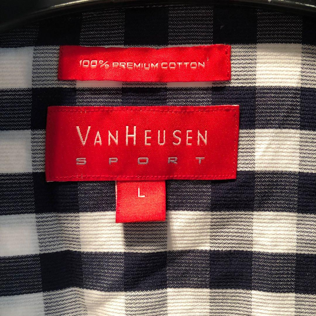 BNWOT Van Heusen Large Business Shirt Blue/White Check
